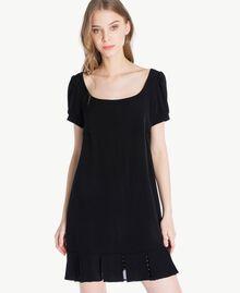 Polka dot dress Black Woman PS82ZA-04