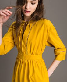 "Poplin long dress with hemstitch ""Honey Gold"" Woman 191TT2241-01"