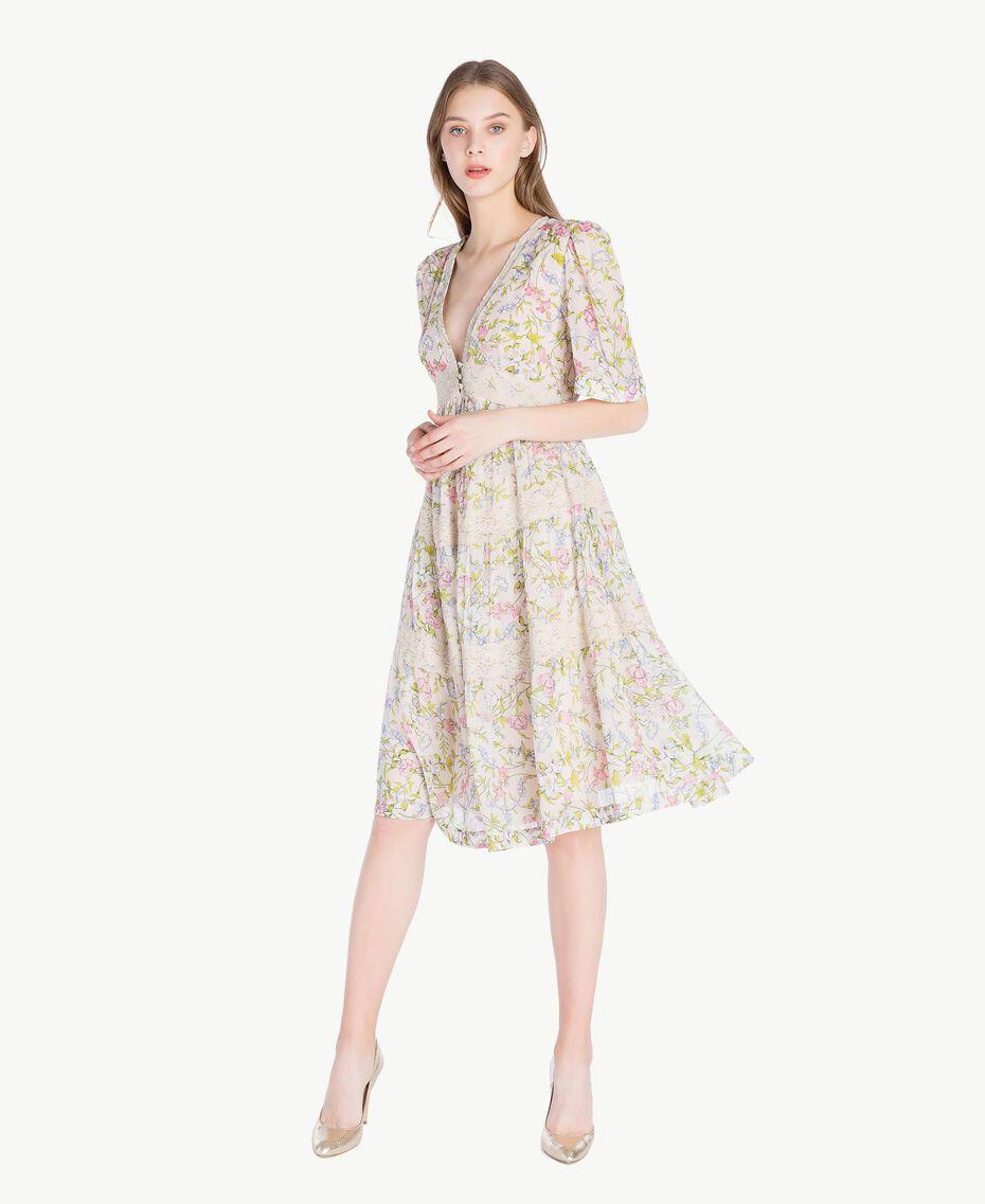 Kleid mit Print Frühlingsprint Frau PS82PB-01