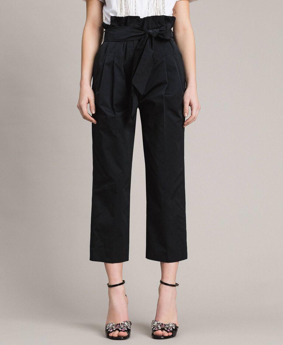 Pantalon en taffetas Noir Femme 191TP2654-02