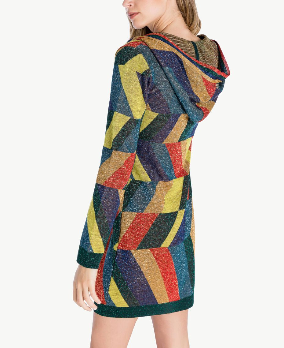 "Vestido de jacquard de lúrex Multicolor ""Jacquard Geométrico"" Femenino PA738S-03"