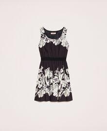 Robe en popeline florale Imprimé Fleur Graphique Noir Femme 201TT2312-0S