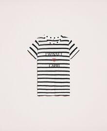 Striped maxi T-shirt with embroidery Capri Stripes Woman 201LM2LUU-0S