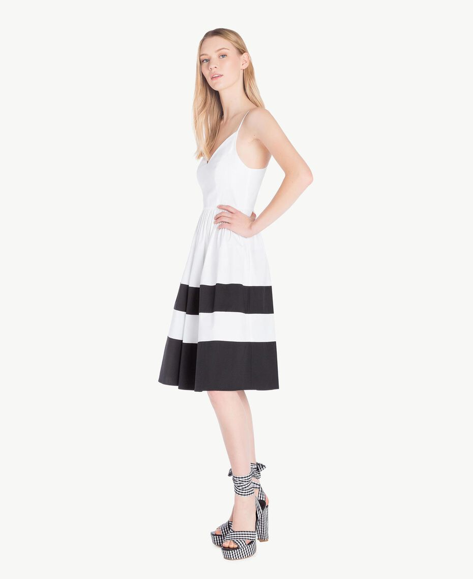 Robe popeline Blanc Optique / Noir Femme YS82FA-02
