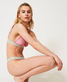 """Lace triangle bra """"Fuchsia Pink"""" Woman 211LL6922-04"""