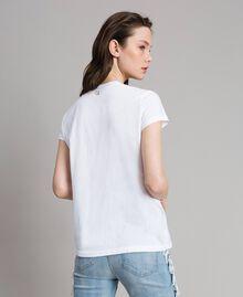 T-shirt avec pierres et strass Blanc Femme 191MT241G-04