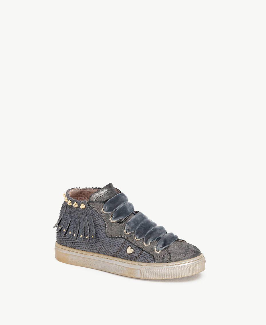 Fringed sneakers Lava Grey Female HA78C1-02