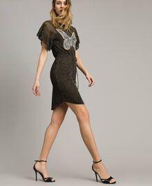 Lurex dress with butterfly Black Lurex Woman 191TT3100-03