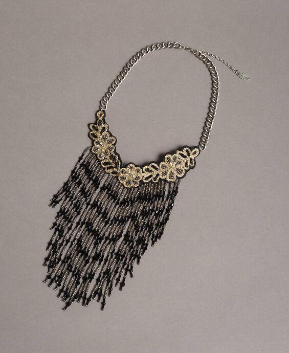 Halsband-Kette mit Perlenfransen