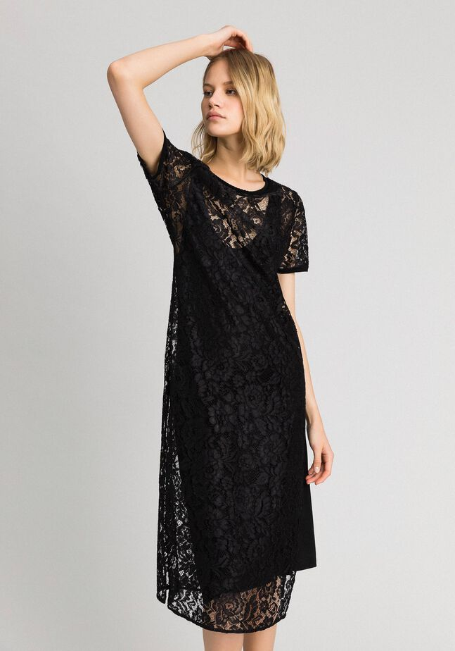 Lace dress with slip
