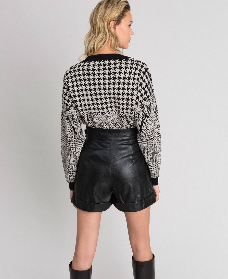 Faux leather shorts Black Woman 192TT203A-03