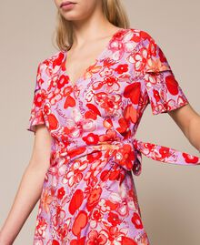 Floral print dress Reve / Rose Print Woman 201TQ2021-05