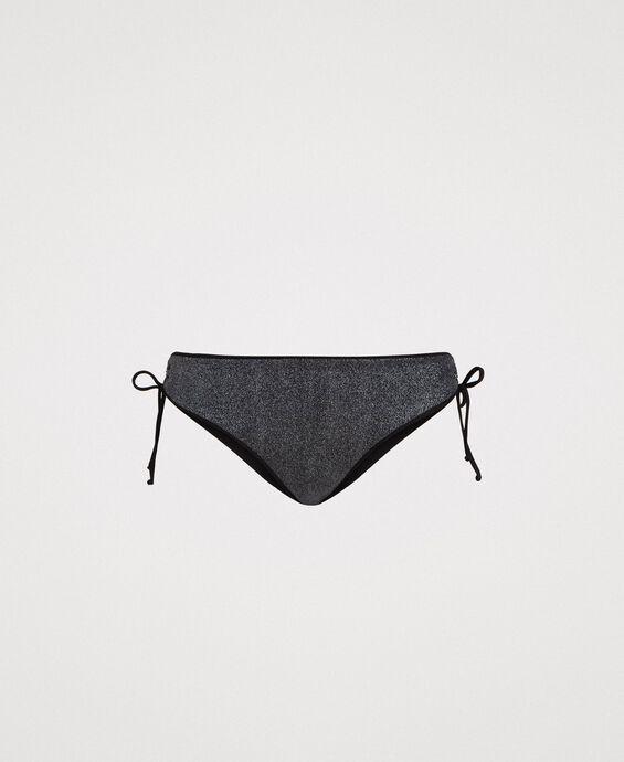 Bas de bikini pailleté avec cordon coulissant sur les côtés
