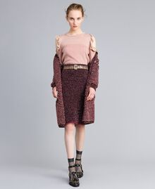 "Jacquard lurex jumper with ruches ""Light Pink"" with Lurex Woman PA834E-0T"
