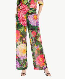 "Hose mit Print ""Summer Garden""-Print Frau TS8244-01"