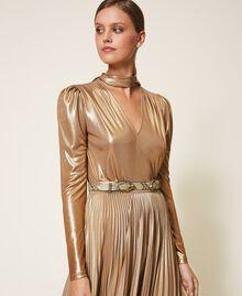 Gürtel aus Leder mit exotischer Prägung Pythonprägung Pastel Skin Frau 202TO501A-0S