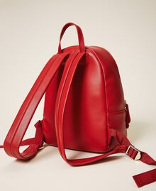 Faux leather backpack Cherry Red Woman 202MA7021-04
