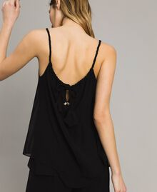 Top with striped sequins Black Woman 191LM2CAA-03