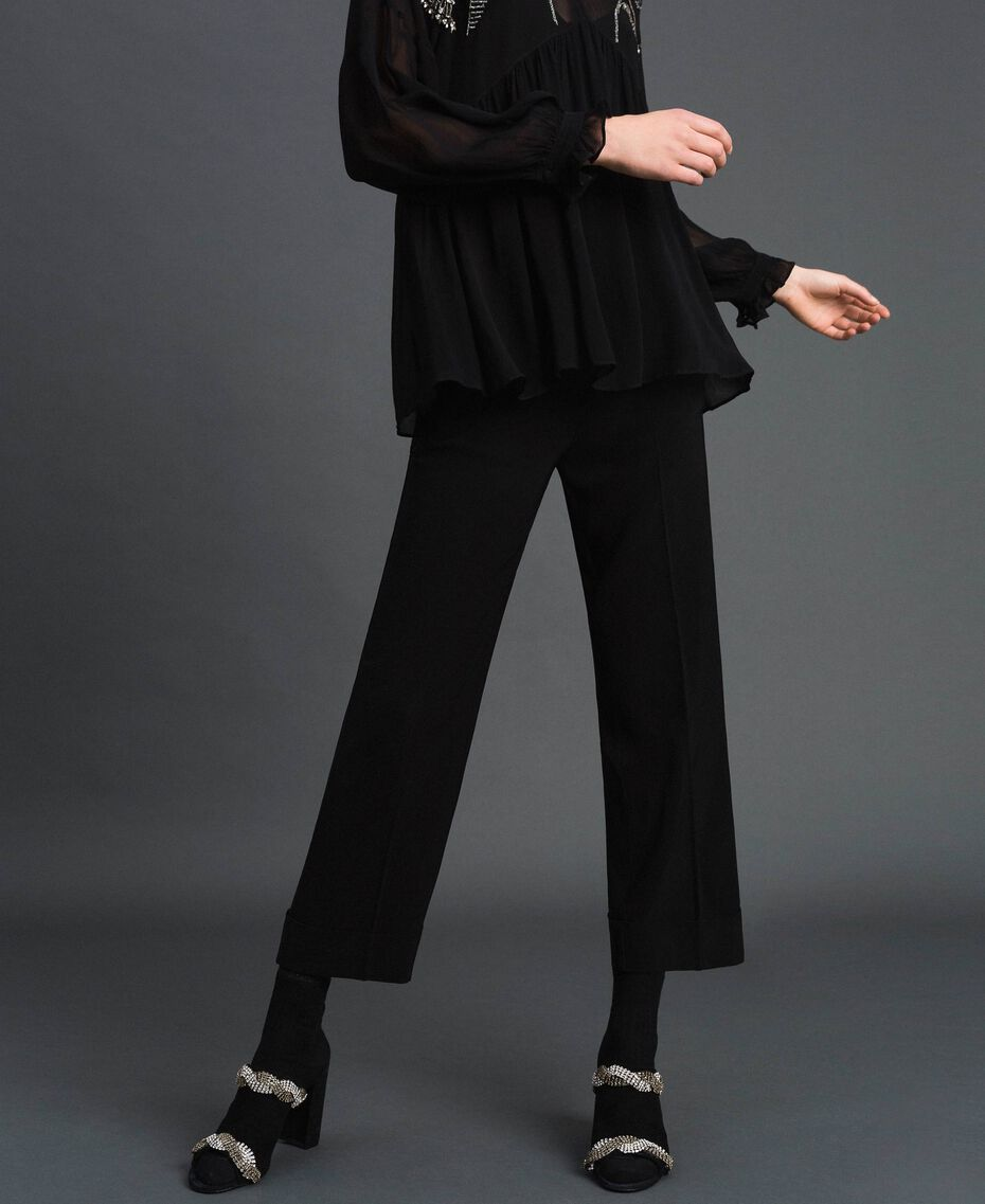 Georgette trousers Black Woman 192TP2387-02