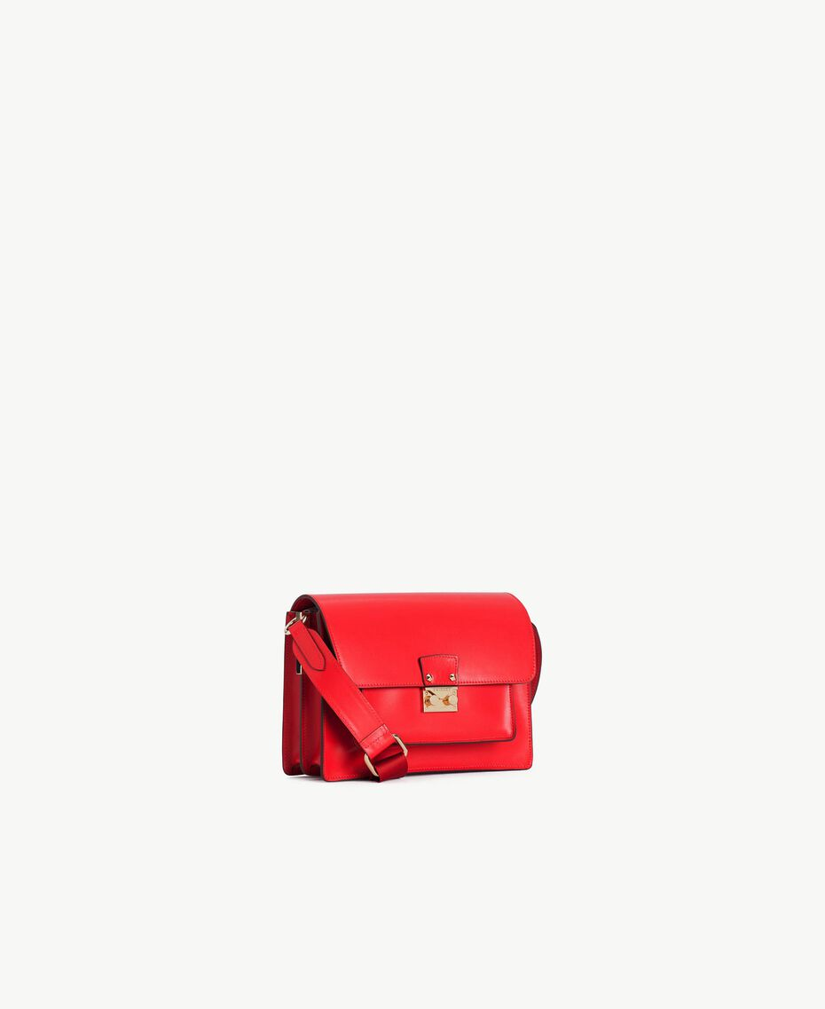 TWINSET Leather shoulder bag Ruby Woman AS8PE1-02