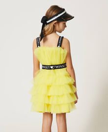 "Tulle dress with belt ""Sunny Lemon"" Yellow Child 211GJ2Q8B-04"
