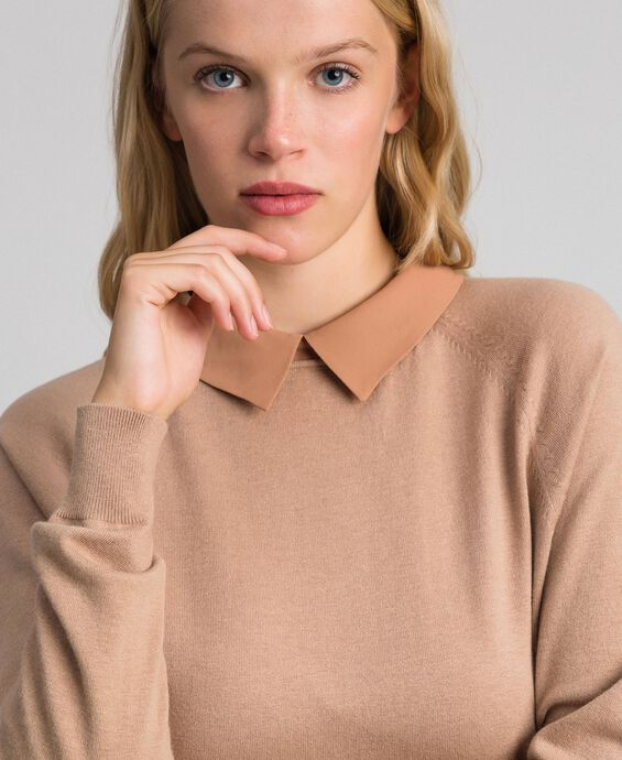 Georgette and wool blend jumper