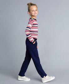 Lurex jacquard jumper Multicolour Stripe Jacquard Child GA83EB-03