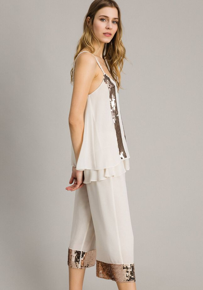 Top with striped sequins