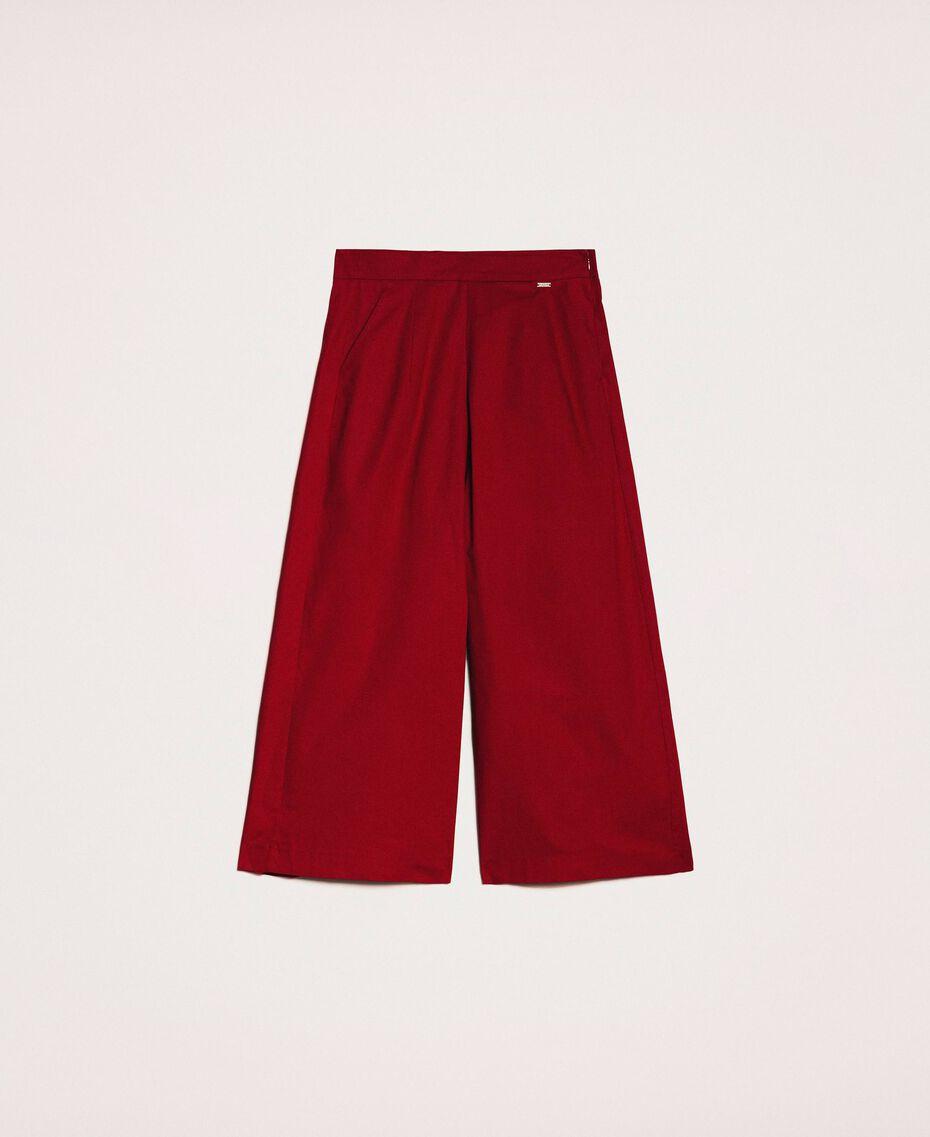 Poplin cropped trousers Light Brown Woman 201ST202C-0S