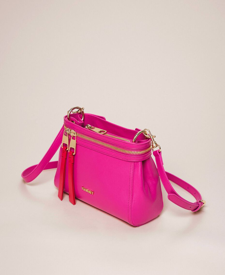 Kleine New Cécile Bag aus Lederimitat Schwarz Frau 201TO8181-01