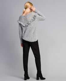Pantalon cigarette en twill Noir Femme SA82KC-03