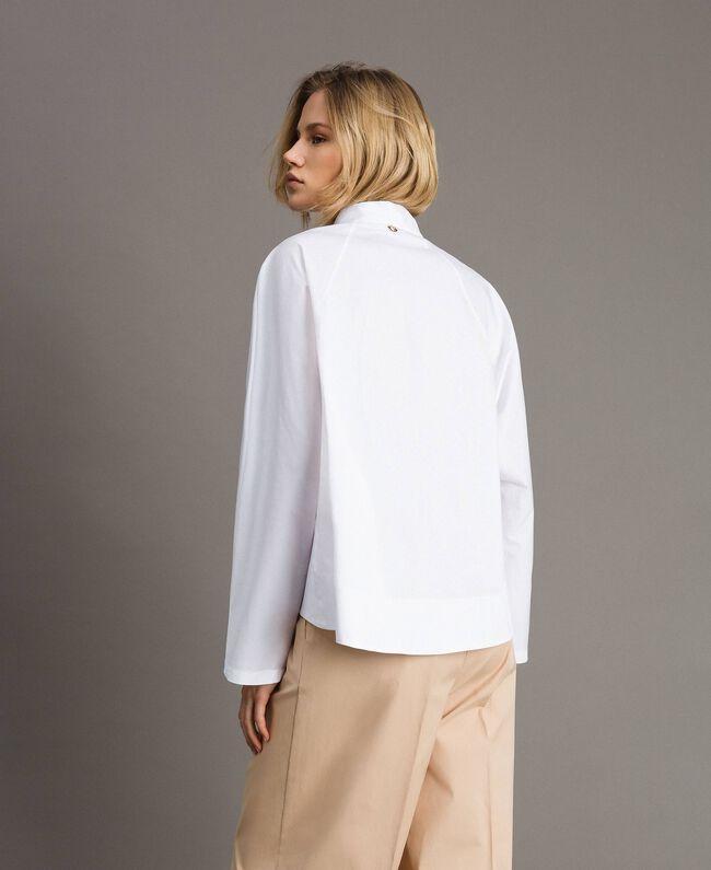 Poplin shirt with pockets White Woman 191LL23LL-04