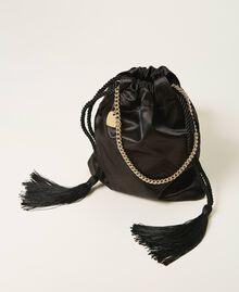 Атласная сумка со стразами Черный женщина 211TD8221-04