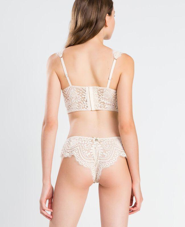 Slip brésilien en dentelle festonnée Blanc Femme IA8C77-03