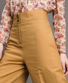 """Technical cotton trousers """"Mid Tan"""" Brown Woman 191TP2181-05"""