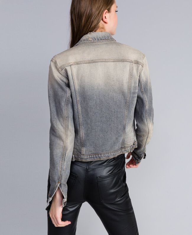 Denim jacket Grey Denim Woman JA82YC-03