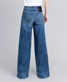 Wide-Leg-Jeans aus Denim Denimblau Frau JA82Q4-03
