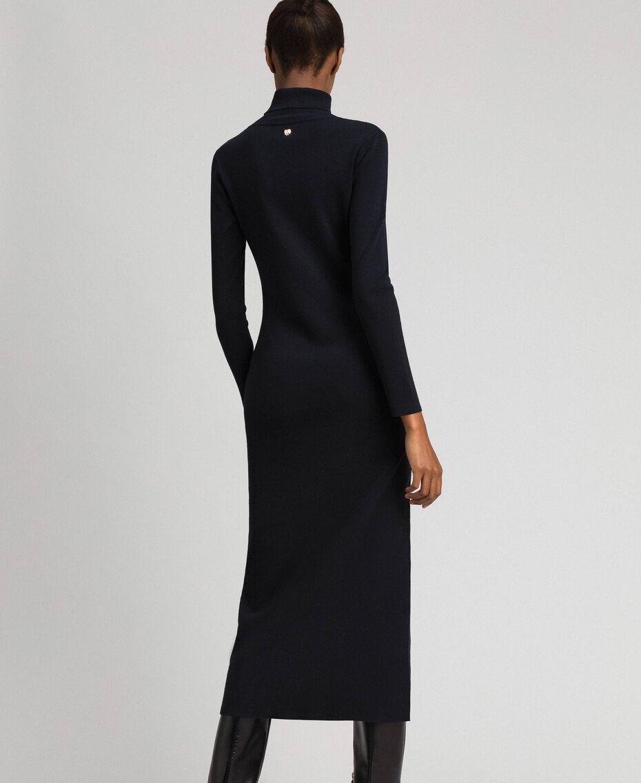 Robe longue en maille Noir Femme 192MT3014-03