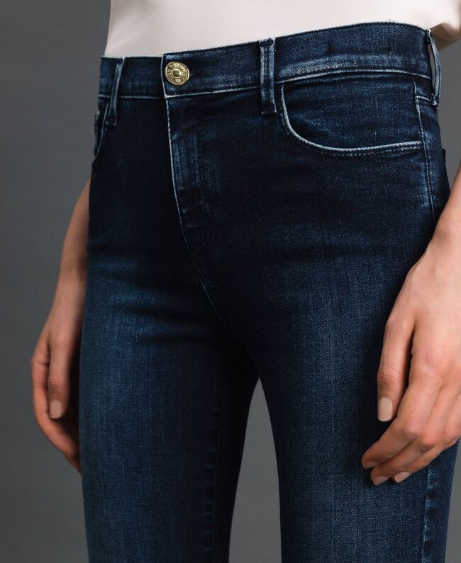 Five-pocket skinny jeans Denim Blue Woman 192MT220H-04