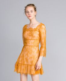 Short Valencienne lace dress Brandy Woman PA82FY-01