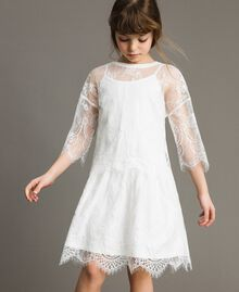 Jersey dress and lace blouse Off White Child 191GJ2740-0S