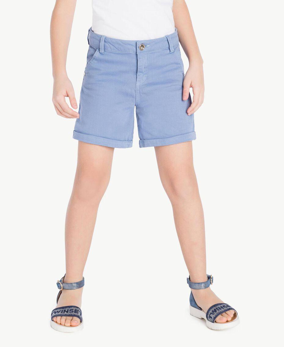 Short coton Bleu Infini Enfant GS82CQ-02