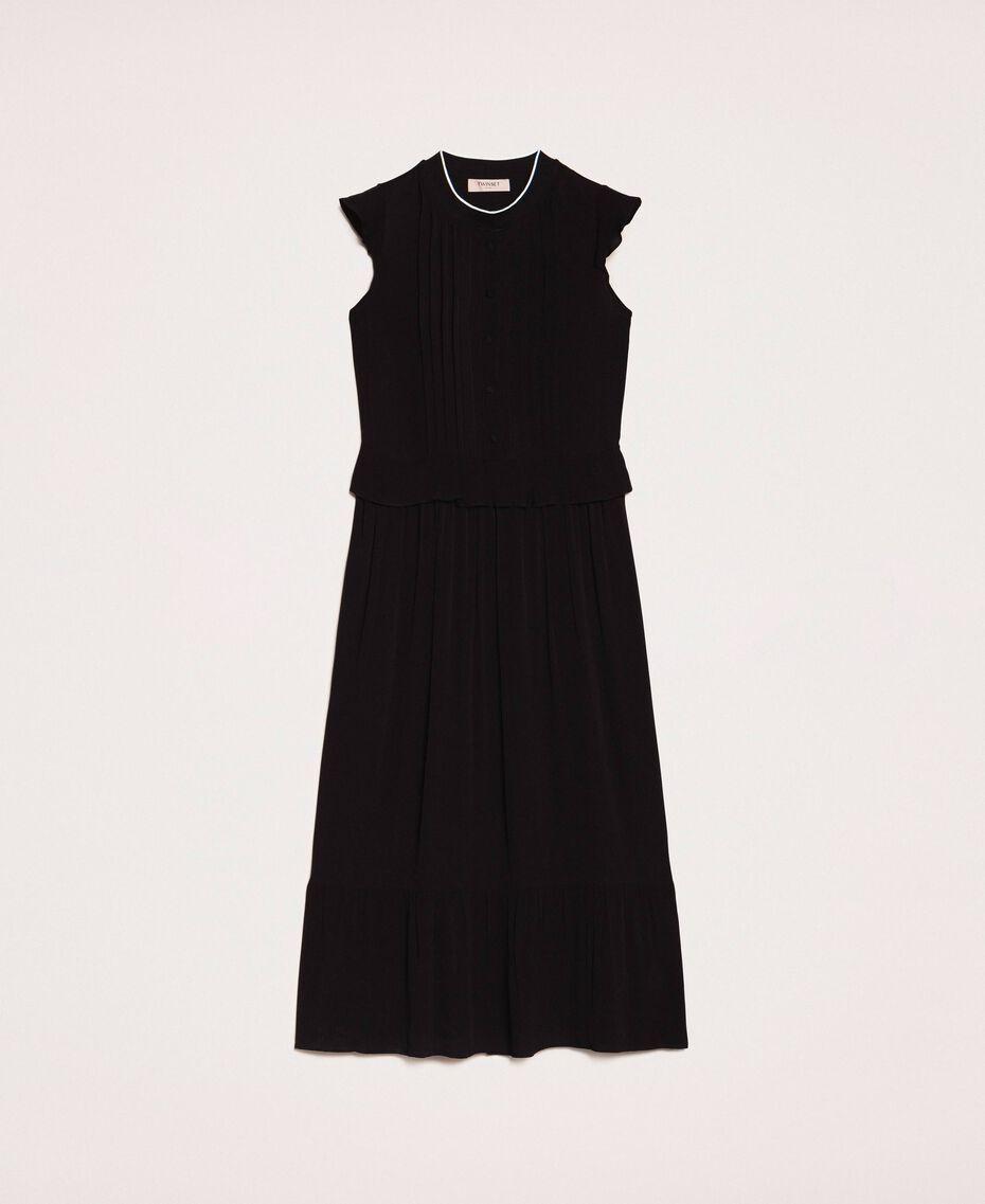 Crêpe de Chine long dress Black Woman 201TP2390-0S