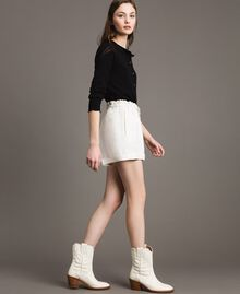 Shorts in misto lino Bianco Neve Donna 191TP2205-03