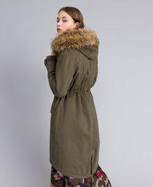 Parka rembourrée en gabardine Vert Alpin Femme JA82EE-03