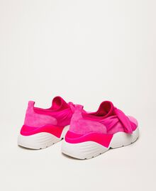 Fabric sneakers with knot White Woman 201TCT110-04
