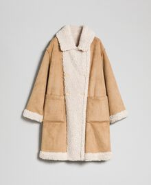 "Faux shearling reversible coat ""Vanilla"" White / Creme Caramel Woman 192MT2020-0S"