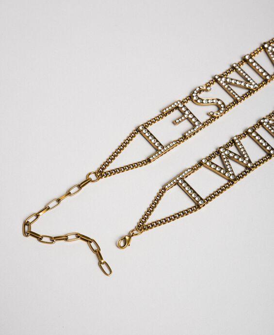 Jewel belt with logo