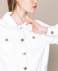 """Blouson en jean blanc Blanc """"Ice"""" Femme 201MT2230-03"""