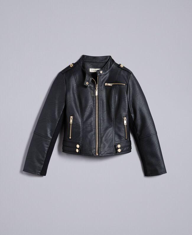 Veste en similicuir Noir Enfant GA82BA-01